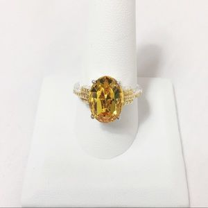 Swarovski Yellow Canary Ring